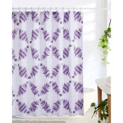 Cathedral Window 72 in. Plum Shower Curtain