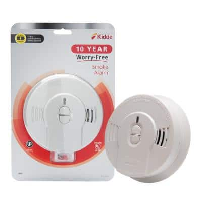 10 Year Worry-Free Smoke Detector, Lithium Battery Powered, Fire Alarm