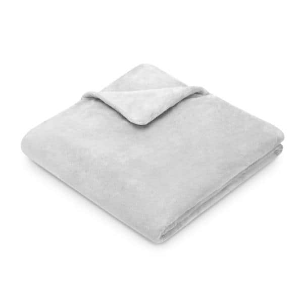 Weighted Acupressure Plush Grey Blanket With Removable Cover Drm62415greya7 The Home Depot