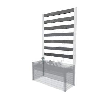 Urbana Small Slate Gray Composite Parklette Trellis
