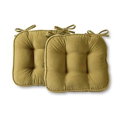 Hyatt Moss Microfiber Chair Pad (Set of 2)