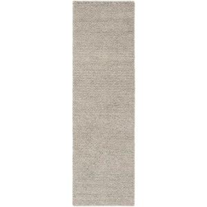 Natura Silver 2 ft. x 8 ft. Solid Runner Rug