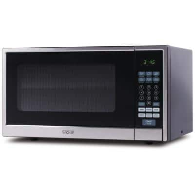 1.1 cu. ft. Countertop Microwave Stainless and Black