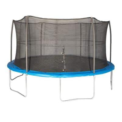 15 ft. Outdoor Trampoline and Safety Net Enclosure Kit, Blue