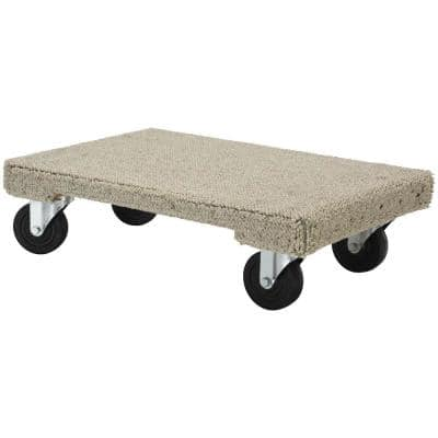 16 in. x 24 in. 1,200 lb. Carpeted Hardwood Dolly