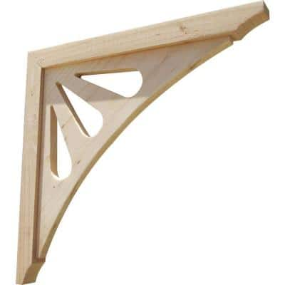 Teardrop 16 in. x 1.6 in. x 16 in. Designer Wood Corbel (2-Pack)