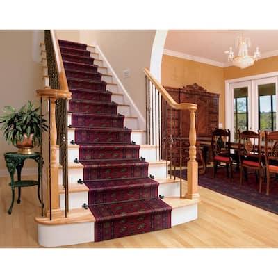 Kurdamir Boukara Crimson 33 in. x Your Choice Length Stair Runner