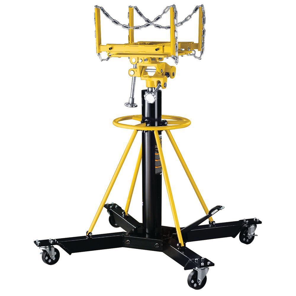 1-Ton Capacity Black Telescopic Transmission Jack