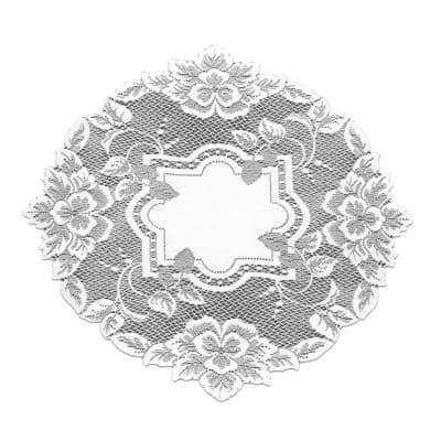 Heirloom 16 in. White Round Doily (Set of 4)
