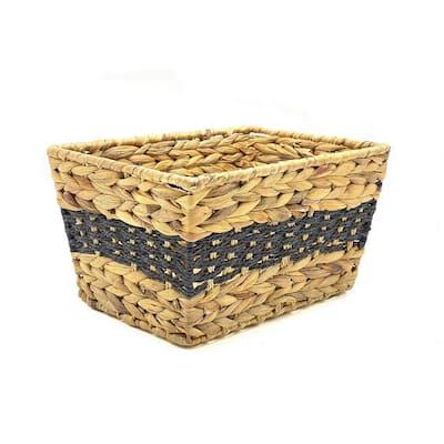 13 in. D x 9.5 in. W x 7 in. H Wicker Shelf Baskets (Set of 2)