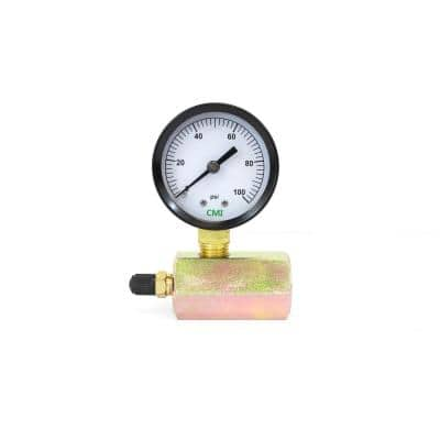 0 psi - 100 psi 2 in. Dial Gas 3/4 in. Brass FNPT Test Gauge (2-Pack)