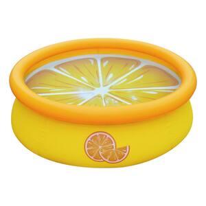 Orange Inflatable 5 ft. Round 16.5 in. Kiddie Pool