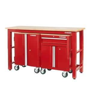 3-Piece Ready-to-Assemble Steel Garage Storage System in Red (72 in. W x 42 in. H x 24 in. D )