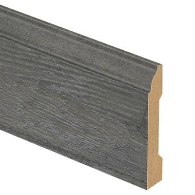 Ventura Pewter Hickory 9/16 in. Thick x 3-1/4 in. Wide x 94 in. Length Laminate Base Molding