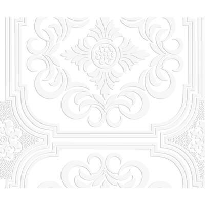 Blenheim Panel White Paper Peelable Roll (Covers 56 sq. ft.)