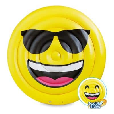 69 in. Dia Double-Sided Emoji Island Float