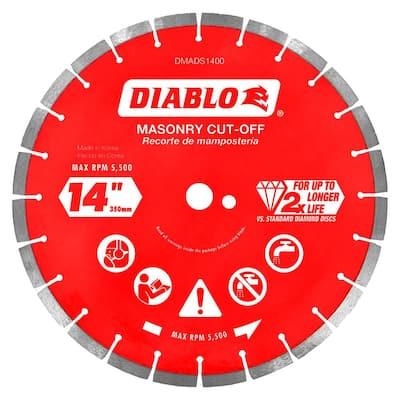 14 in. Diamond Segmented Cut-Off Discs for Masonry