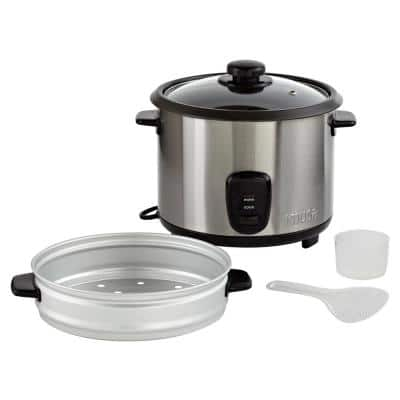 20-Cup Stainless Steel Rice Cooker with Non-Stick Interior
