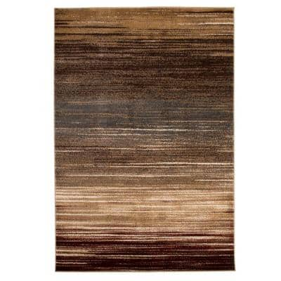Opus Abstract Stripes Cream 5 ft. x 8 ft. Area Rug