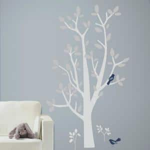 5 in. x 19 in. Patina Vie Woodland Tree 74-Piece Peel and Stick Giant Wall Decals
