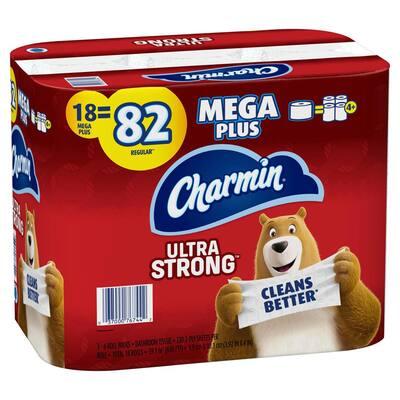 Ultra Strong Toilet Paper (18-Mega Plus Rolls)