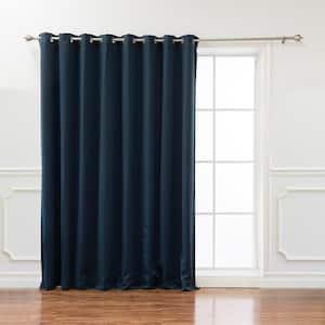 Navy Grommet Blackout Curtain - 100 in. W x 84 in. L