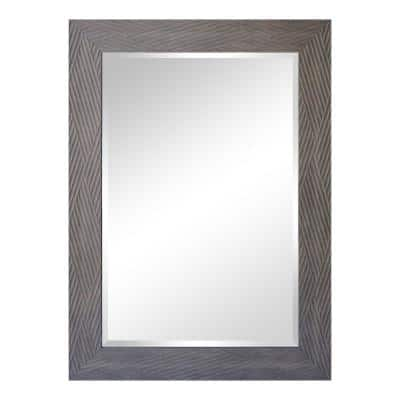 Bryson Series 43 in. x 1 in. Contemporary Rectangle Bronze Vertical Wall Mirror