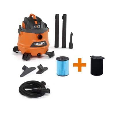14 Gallon 6.0-Peak HP NXT Wet/Dry Shop Vacuum with Fine Dust Filter, Wet Application Filter, Hose and Accessories