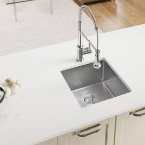 Undermount Stainless Steel 17 in. Single Bowl Kitchen Sink