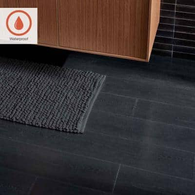 Outlast+ 7.48 in. W Pure Black Oak Waterproof Laminate Wood Flooring (19.63 sq. ft./case)
