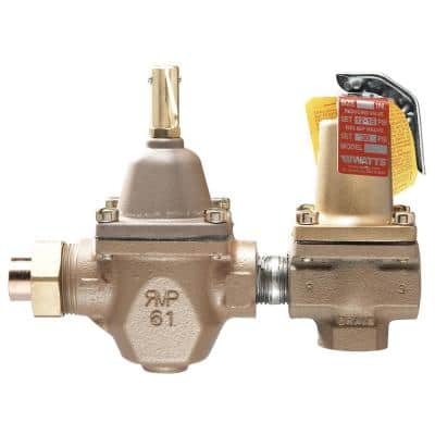1/2 in. Cast-Iron FPT Dual-Control Regulator and Relief Valve