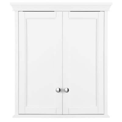 Haven 23.63 in. W x 27-1/2 in. H x 8 in. D Bathroom Storage Wall Cabinet in White