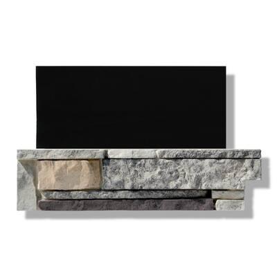 6 in. x 24 in. Stone Veneer Ledgestone Pre-Cut Corners Marin Fog (Box of 8)