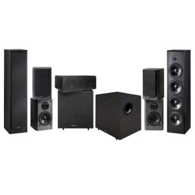 Home Theater Speaker System (7-Piece) with Wireless Transmitter Kit