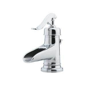 Ashfield 4 in. Centerset Single-Handle Bathroom Faucet in Polished Chrome