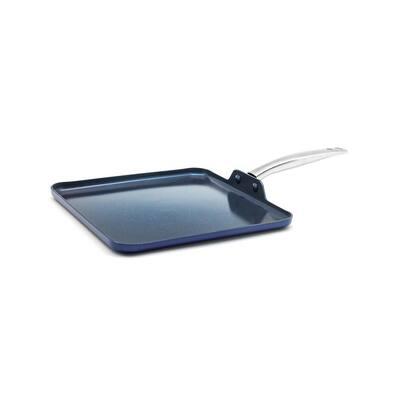 Blue Diamond 11 in. Aluminum Ceramic Nonstick Griddle in Blue