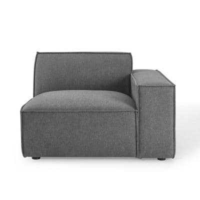 Restore Charcoal Polyester Left-Facing Sectional Chair