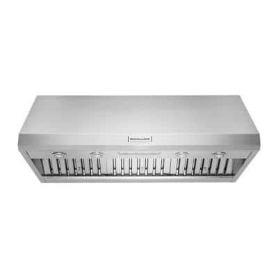 48 in. Commercial-Style Wall-Mount Canopy Range Hood with LED Light in Stainless Steel