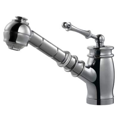 Scepter Single-Handle Pull Out Sprayer Kitchen Faucet with CeraDox Technology in Polished Chrome