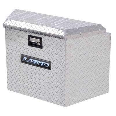 34 in Diamond Plate Aluminum  Trailer Tongue Truck Tool Box with mounting hardware and keys included, Silver