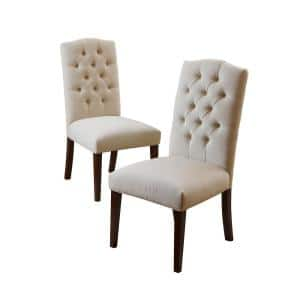 Crown Off White Linen Dining Chair (Set of 2)