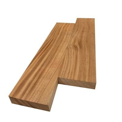 2 in. x 4 in. x 8 ft. African Mahogany S4S Board