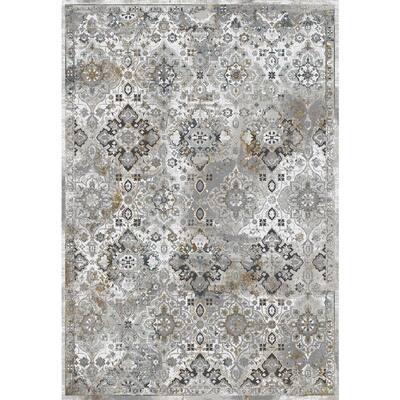 Amara Grey/Charcoal 3 ft. 11 in. x 5 ft. 7 in. Indoor Area Rug