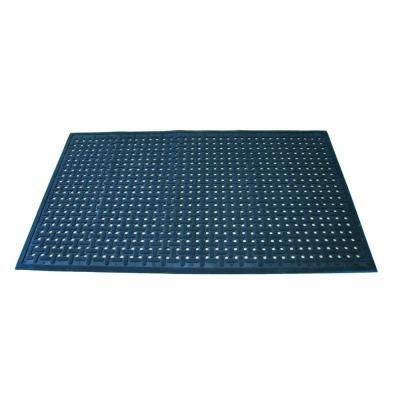 Uni-Mat Black 36 in. x 60 in. x 3/8 in. All Purpose Rubber Entry Mat