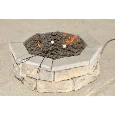 30 in. Concrete Fossill Limestone Gas Fire Pit Kit