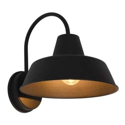 Weymouth Medium 1-Light Antique Black Outdoor Wall Mount Sconce with Edison LED Light Bulb Included