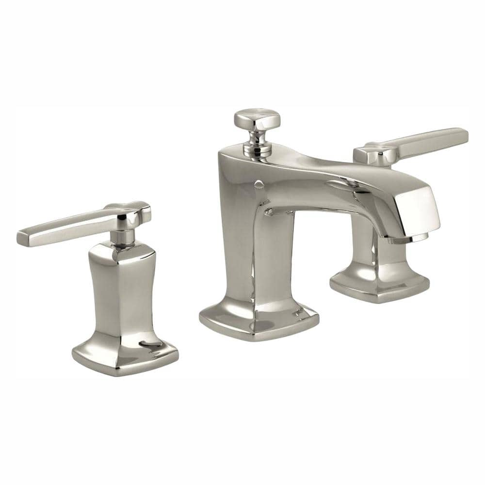 Kohler Margaux 8 In Widespread 2 Handle Low Arc Water Saving Bathroom Faucet In Vibrant Polished Nickel K 16232 4 Sn The Home Depot