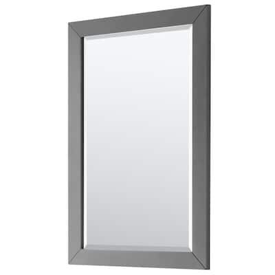 Daria 24 in. W x 36 in. H Framed Rectangular Bathroom Vanity Mirror in Dark Gray