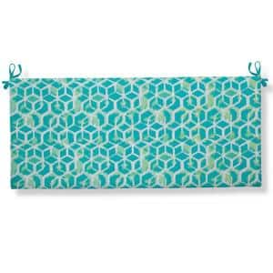 Cubed - Teal Rectangular Bench/Porch Swing Cushion