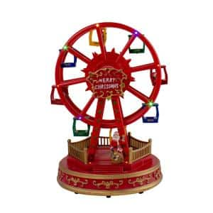 11.25 in. LED Lighted and Musical Rotating Christmas Ferris Wheel